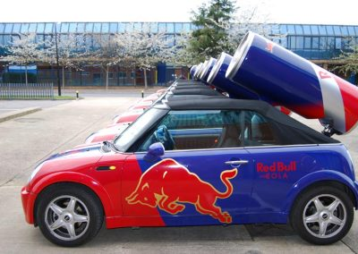 Redbull Mini Car Printed Wraps