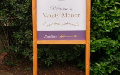 Vaulty Manor sign