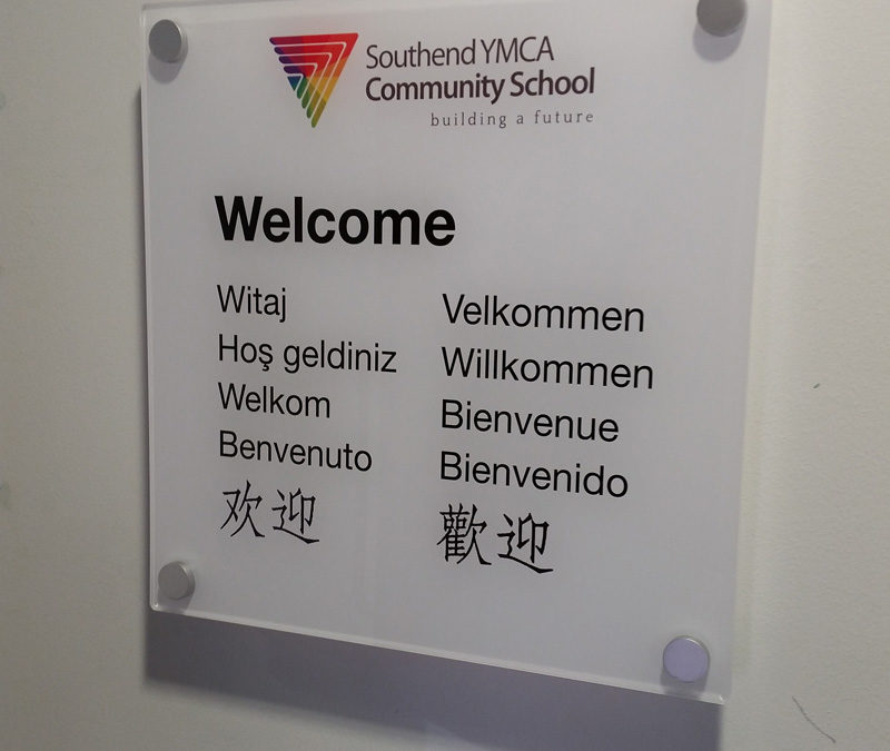 YMCA Community School Acrylic Signage