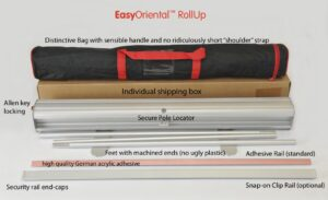 Easy Oriental roller banner detail bag