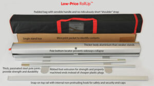 GB Low-Price RollUp Roller Banner detail bag