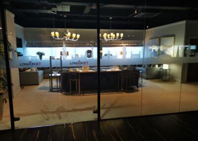 Office London jet centre window graphics