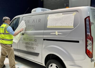 On Air Dining van decals applied