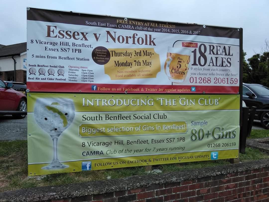 Essex V Norfolk PVC Banner