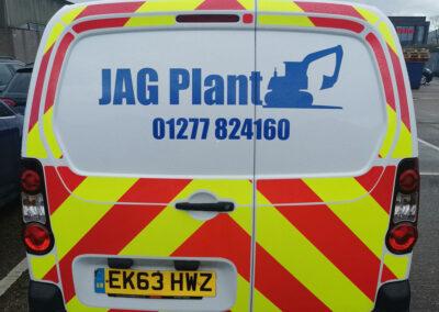 JAG Plant van decals back