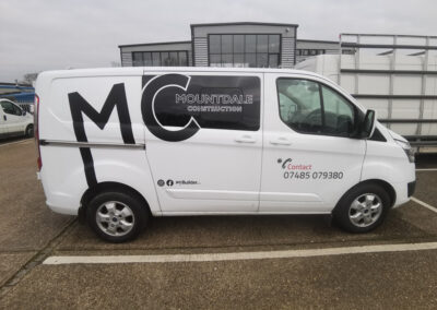 Mountdale Construction Van Graphics