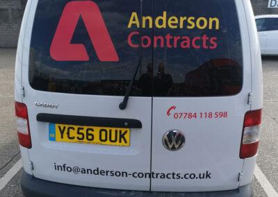 Anderson Van Graphics Back