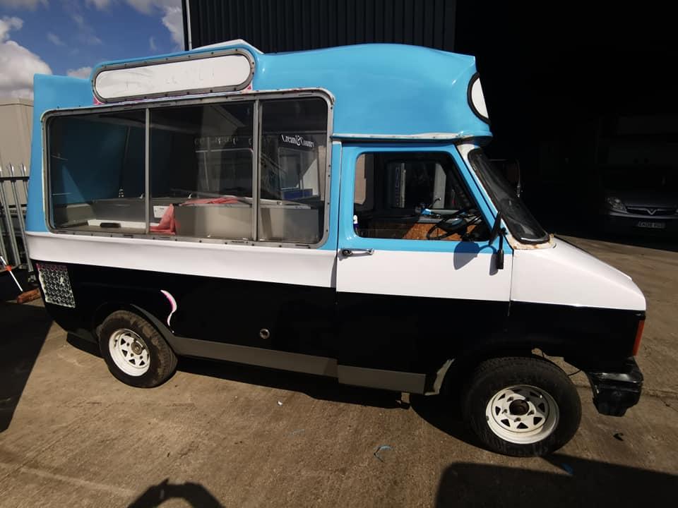 vehicle decals ice cream van sausage seller